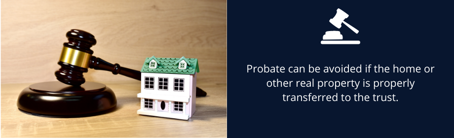 avoid probate by transferring real property into trust